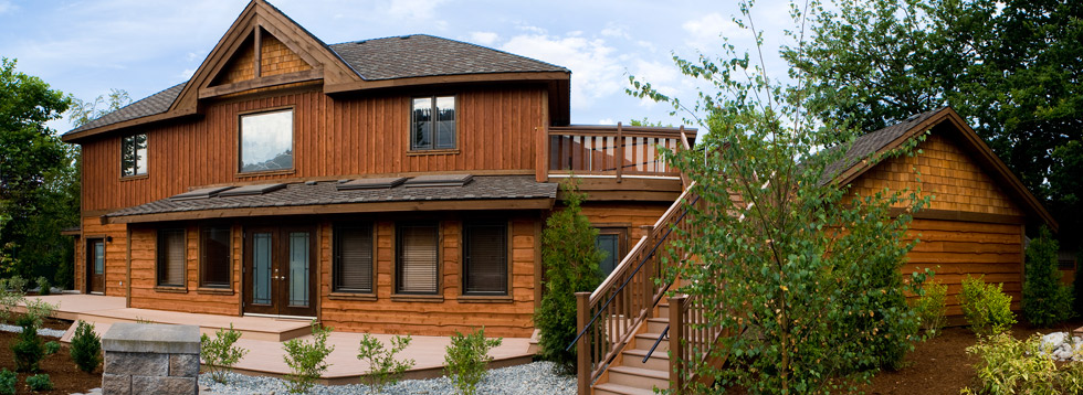 House with Wavy Edge Cedar Sidings